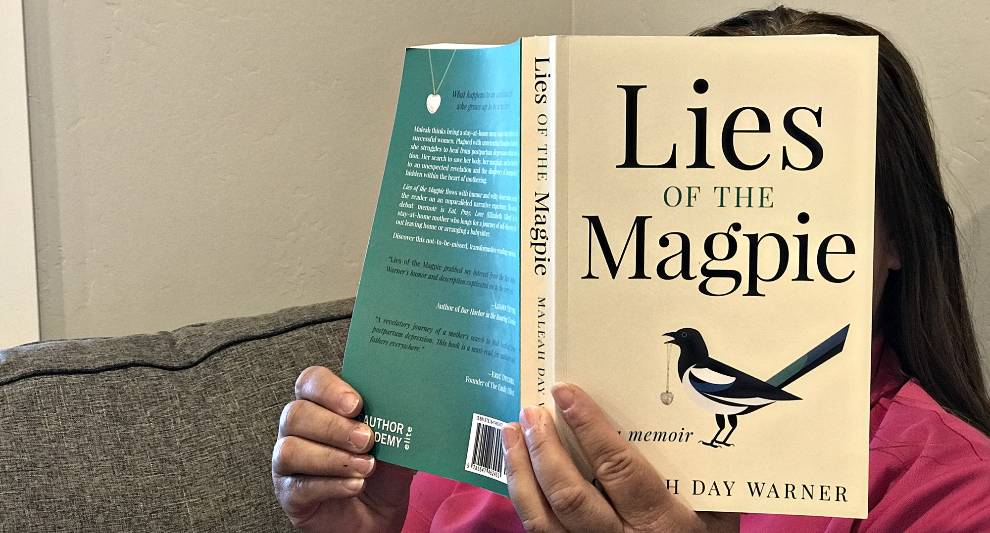 Woman Read Lies of the Magpie